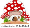 mushroom cartoon for you design - stock vector