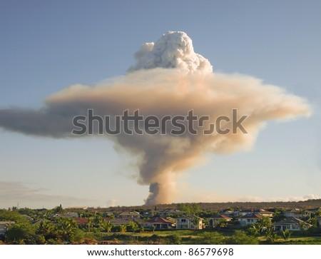Mushroom cloud - stock photo