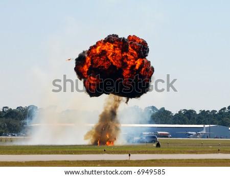 Mushroom explosion - stock photo