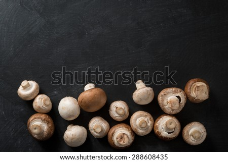 Mushroom Food Background - stock photo