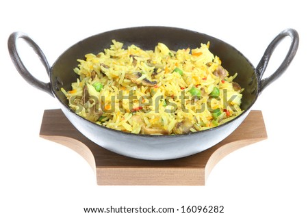 Mushroom fried rice - stock photo