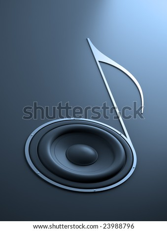 Music abstract - stock photo