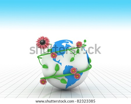 Music all over the planet - stock photo