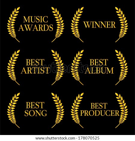 Music Awards Winners 2 - stock photo