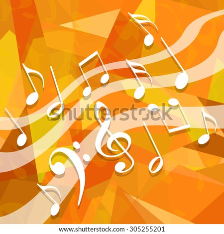 Music background - stock photo
