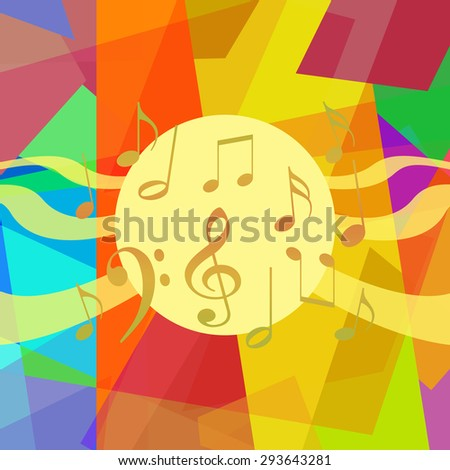Music background, abstract art - stock photo