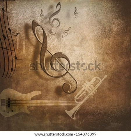 music background for poster design - stock photo
