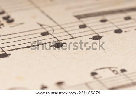 Music Background, retro style, shallow DOF - stock photo