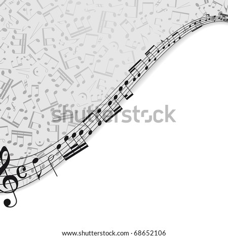 Music background with a musical theme and the place for your text. - stock photo