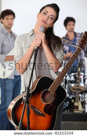 music band performing - stock photo