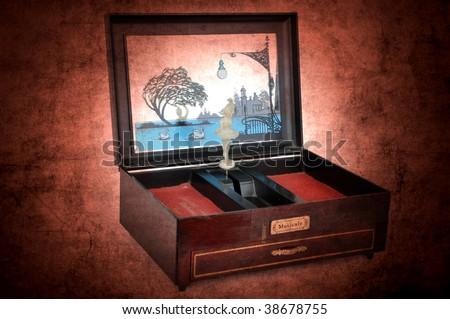 music box - stock photo