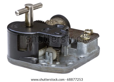music box tool on white background - stock photo