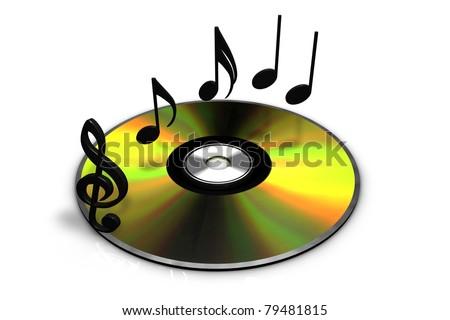 Music CD - stock photo