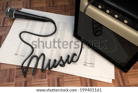 Music Concept illustration - stock photo
