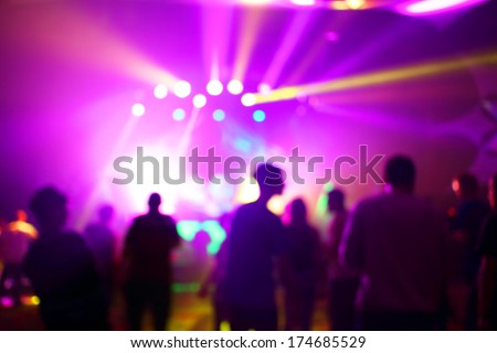 Music Concert background blur - stock photo