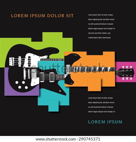 Music Concert Poster Layout Template - stock photo