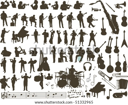 Music design elements - stock photo