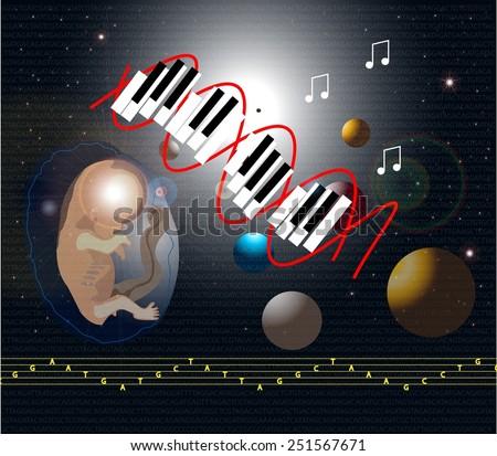 Music DNA - stock photo
