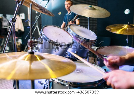 Music Drum Alive Modern Performance Band Lifestyle Hobby Concept - stock photo