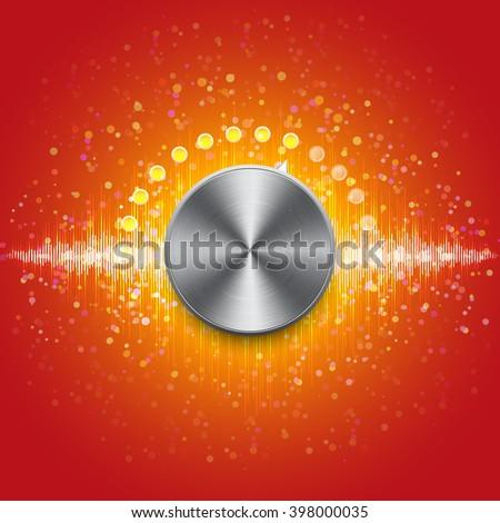Music EQ with adjustable disco - stock photo