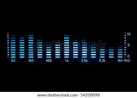 music equalizer - stock photo