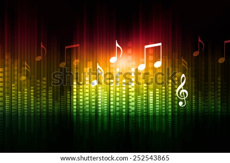 Music equalizer background - stock photo
