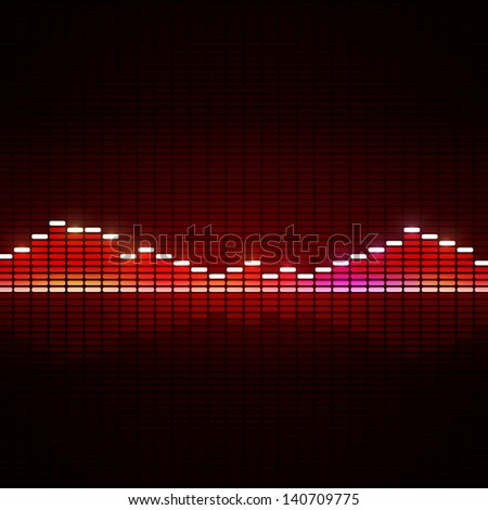 music equalizer background for active dance events - stock photo