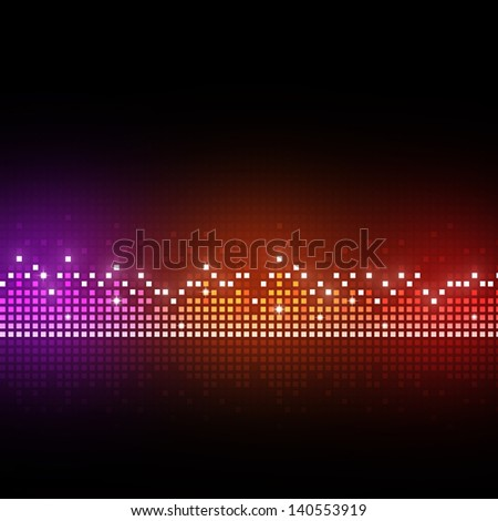 music equalizer background for different joyful events - stock photo