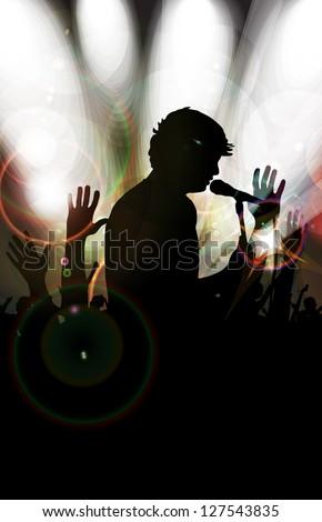 Music event illustration - stock photo