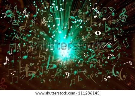 music explosion - stock photo