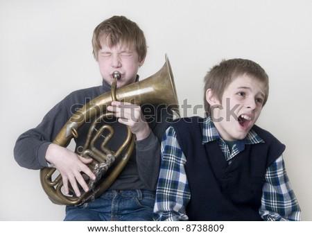 music fans - stock photo
