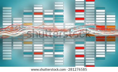 music funky colorful equalizer. Computer generated abstract illustration - stock photo