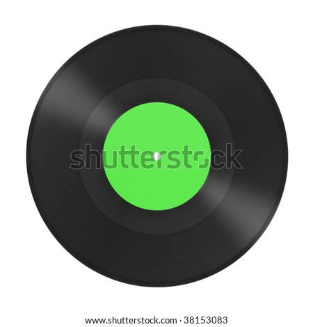 Music gramophone disk isolated on white background