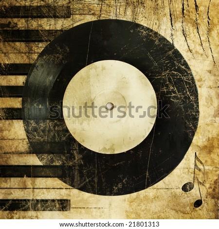 music grunge - stock photo