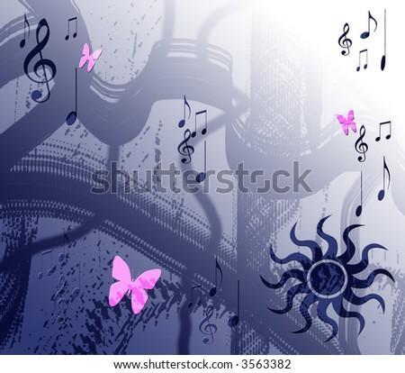 Music grunge background - stock photo