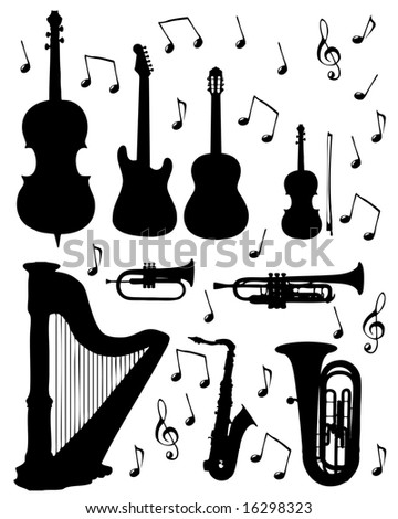 music instrument - stock photo