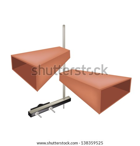 Music Instrument, Illustration of Musical Metal Cowbells for Musical Concert Isolated on White Background  - stock photo