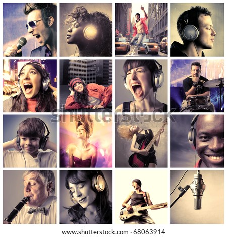 music lifestyle - stock photo