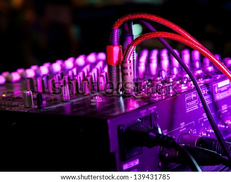dj lights stock images royalty images vectors shutterstock music mixer at nightclub connected wires