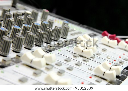 Music mixer (selective focus)