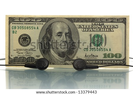 Music money. Music industry concept