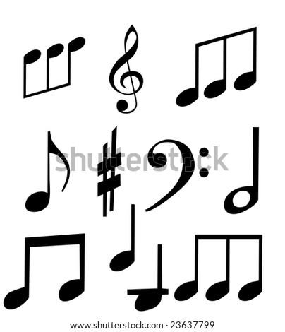 Music Note Isolated Set Musical Symbols Stock Illustration 23637799