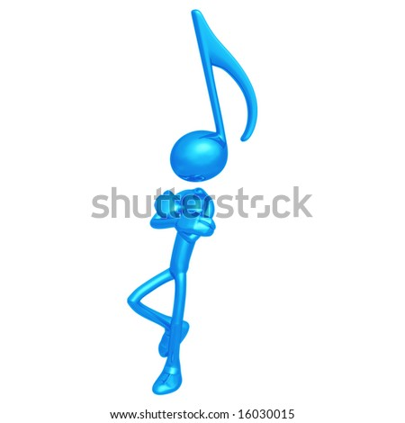 Music Note Leaning