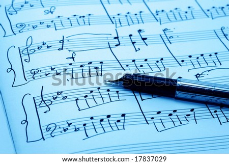 music notes paper - stock photo