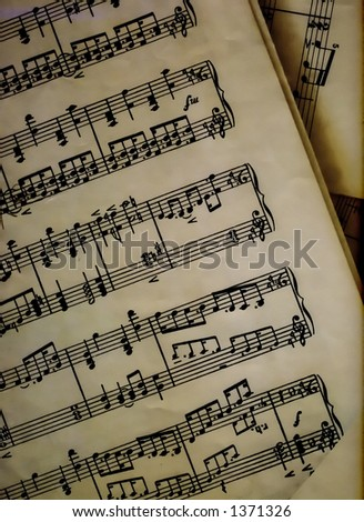 Music on a paper, music sheet - stock photo