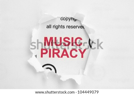 Music piracy - stock photo