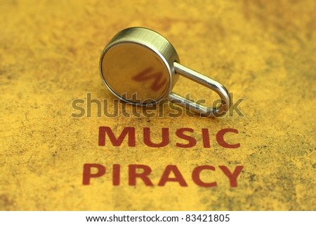 Music piracy concept - stock photo