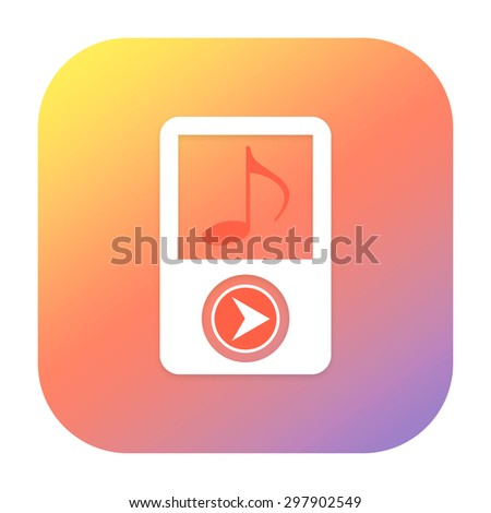Music player icon - stock photo
