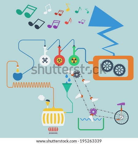 Music production process. Concept. Raster version - stock photo