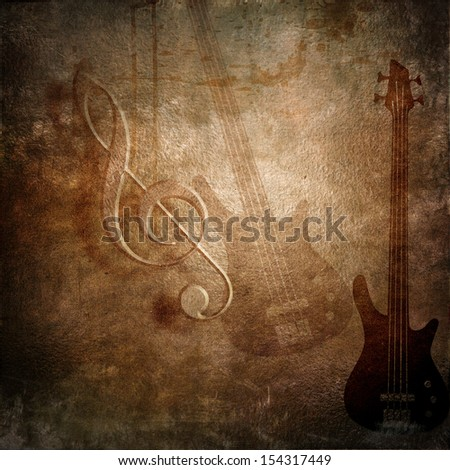 music retro styled grunge background - stock photo